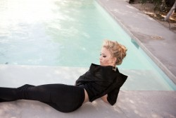 Emily Osment - Poolside In Tight Pants 1 HQ
