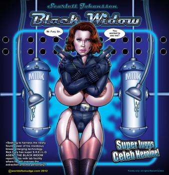 Black widow cartoon porn